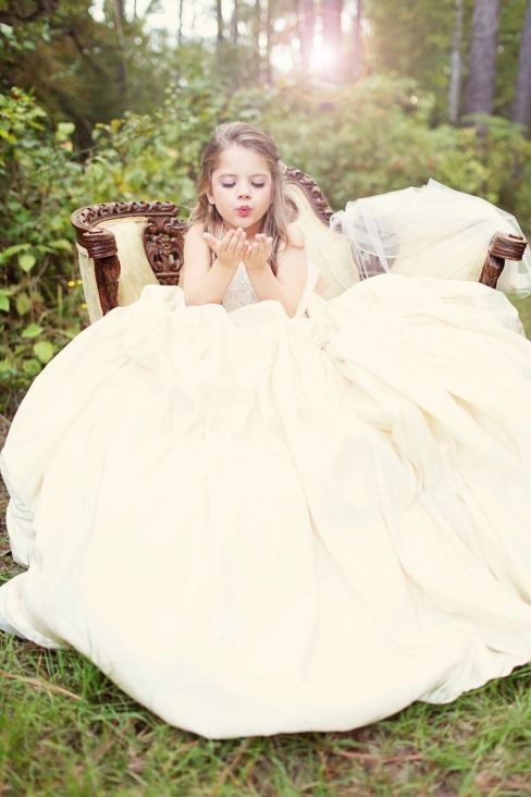 girl in wedding dress